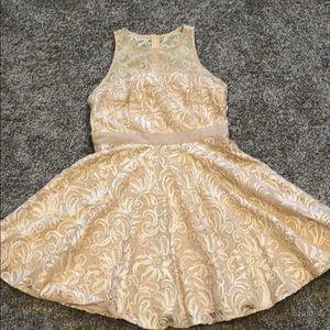 Ivory floral Taylor dress